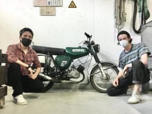 Hector und Carlo mit dem Motorrad